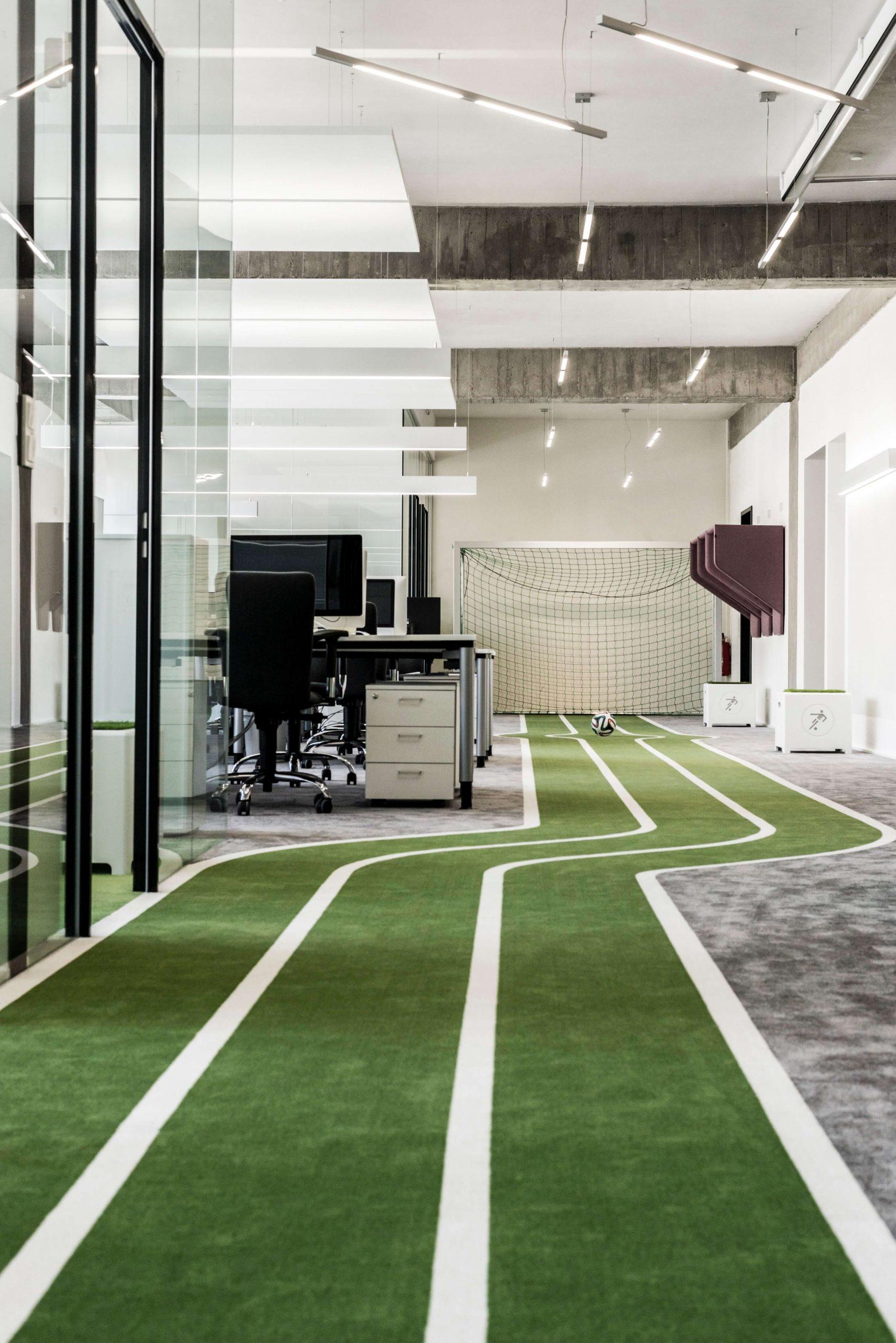 Startup Onefootball Office Design TKEZ Architekten Elfmeter im Büro
