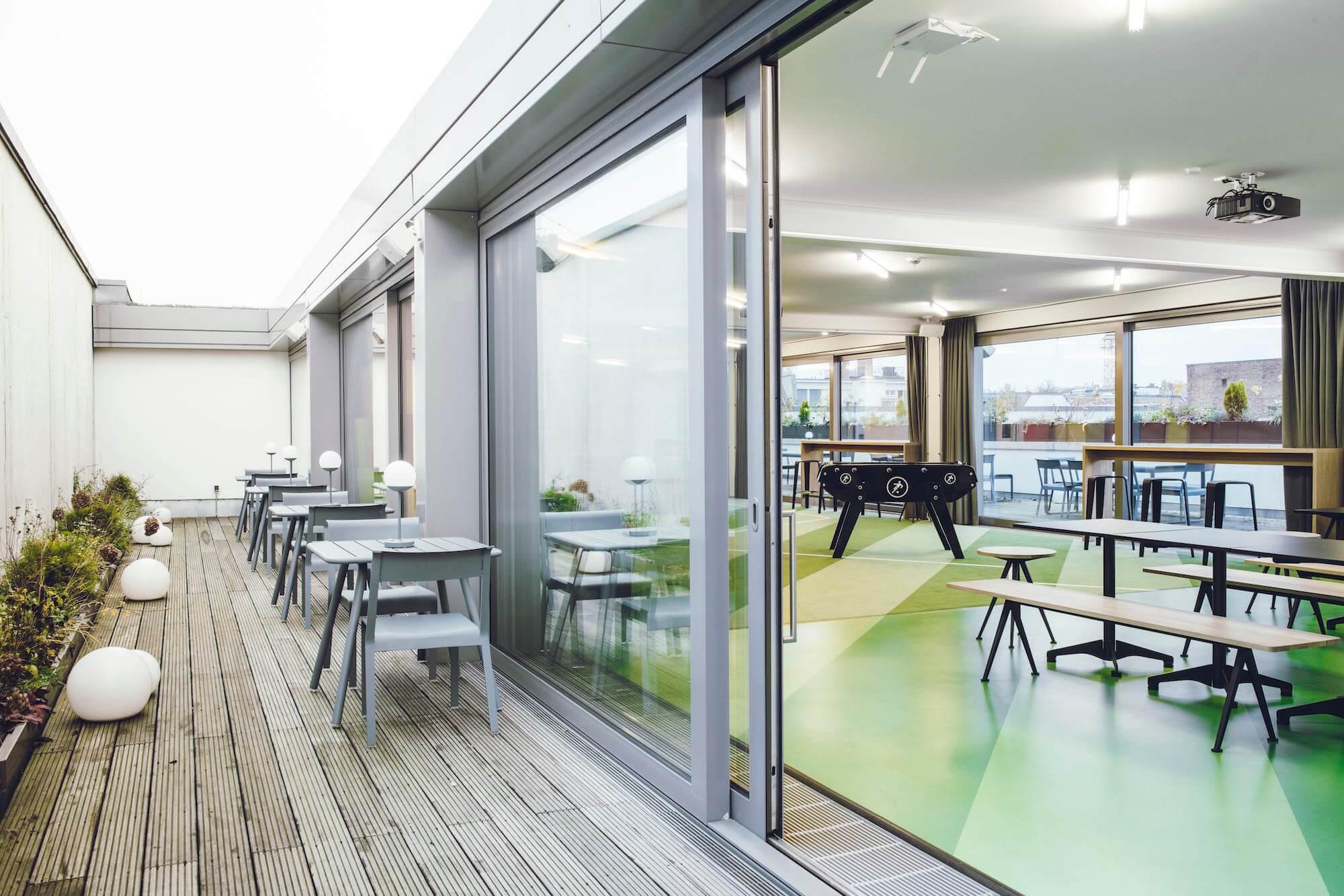 Onefootball Startup Büro TKEZ Architekten Eventfläche New Work