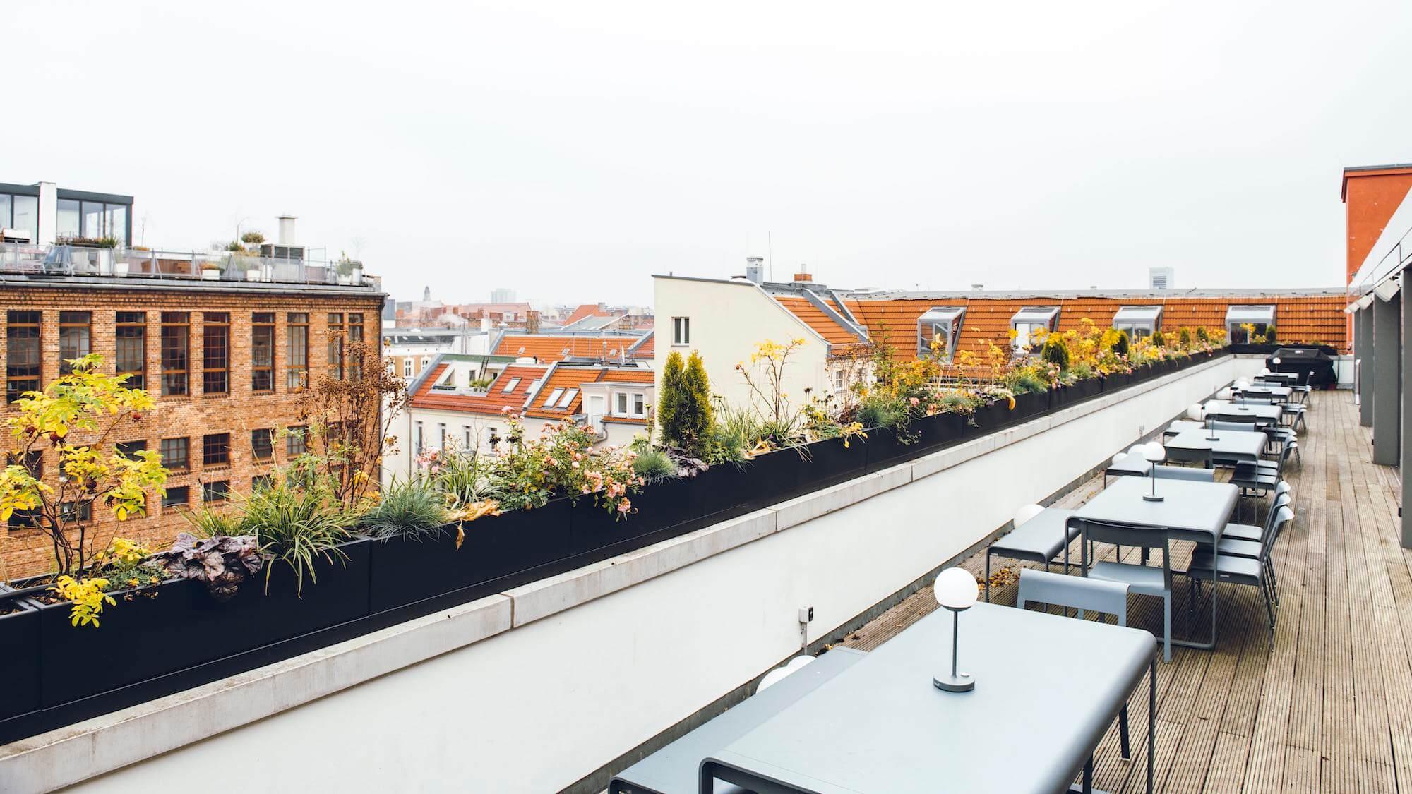 Onefootball Startup Büro TKEZ Architekten Dachterrasse New Work