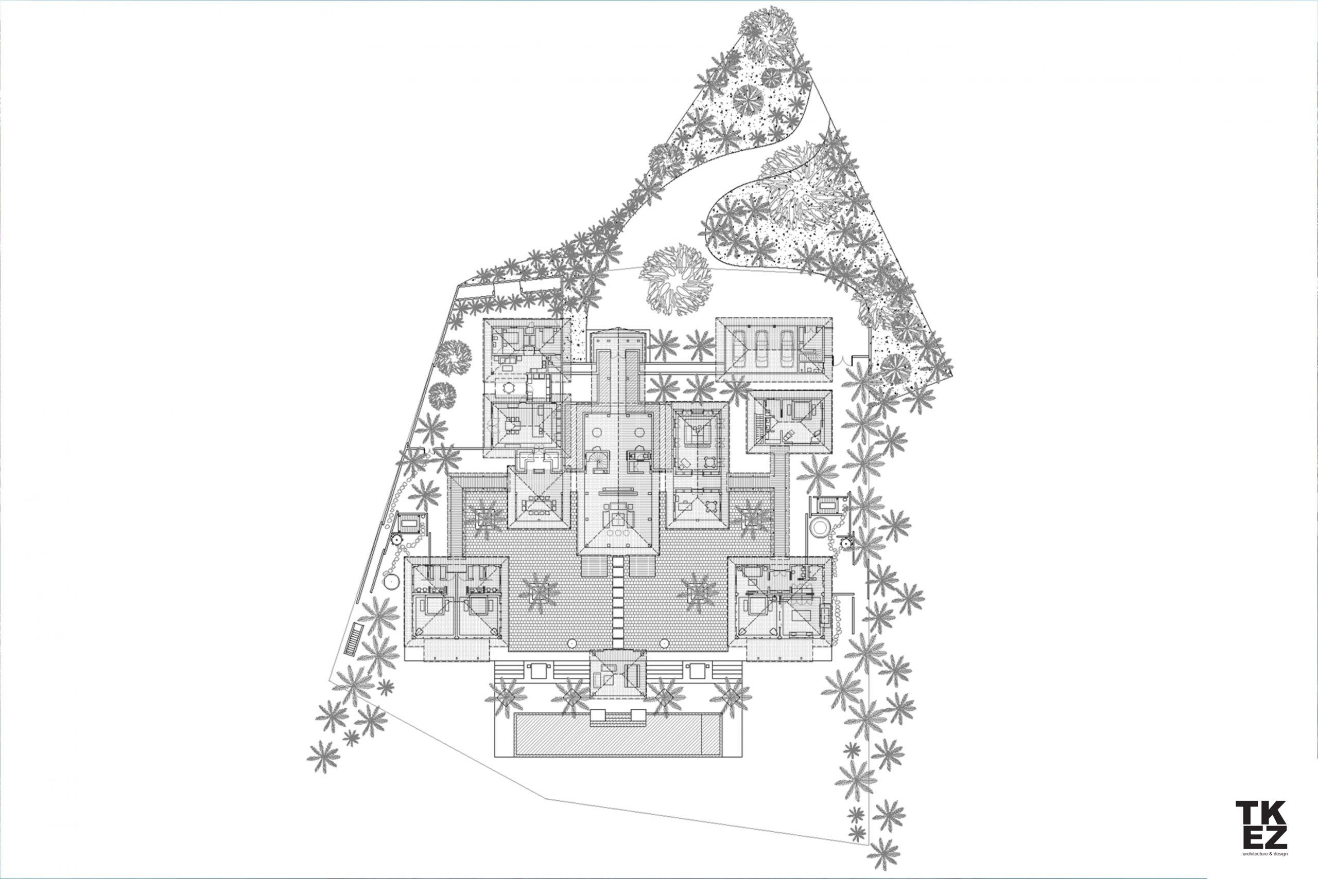 Exklusive Wohnresidenz Architekturbüro TKEZ Architekten Grundriss Caribali