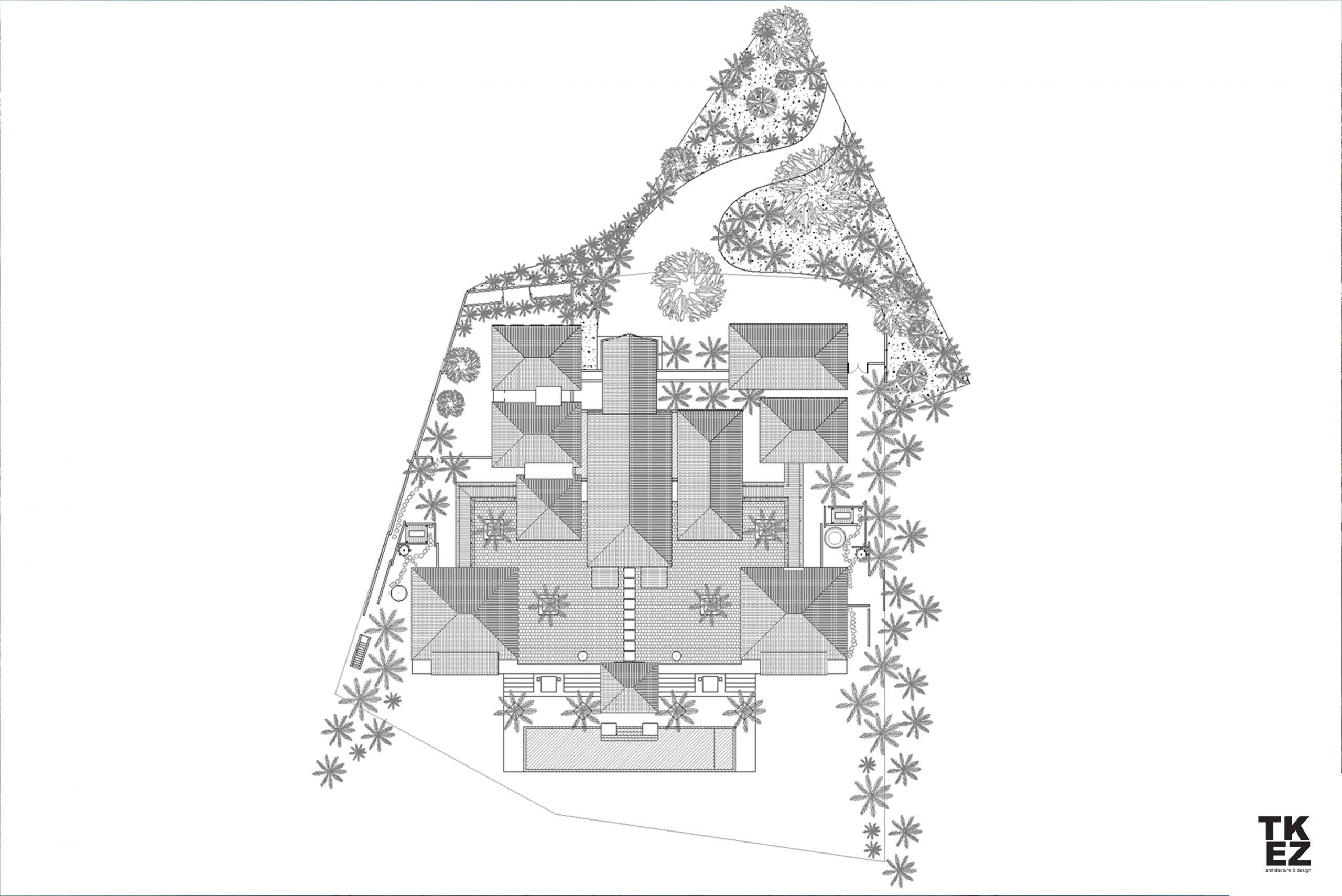 Exklusive Wohnresidenz Architekturbüro TKEZ Architekten Dach Planung