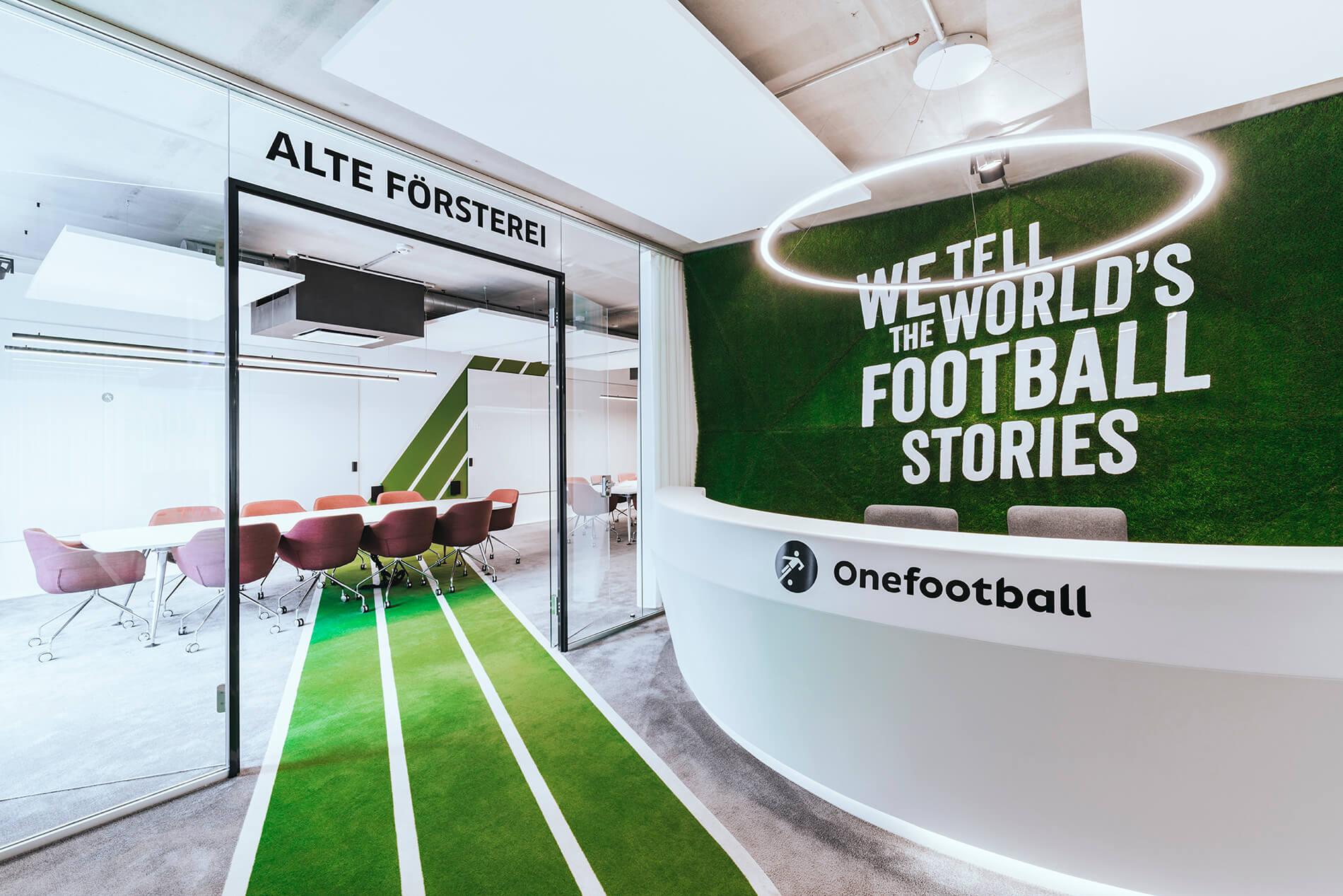 Architekturbüro Office Design Raumkonzept Onefootball TKEZ München