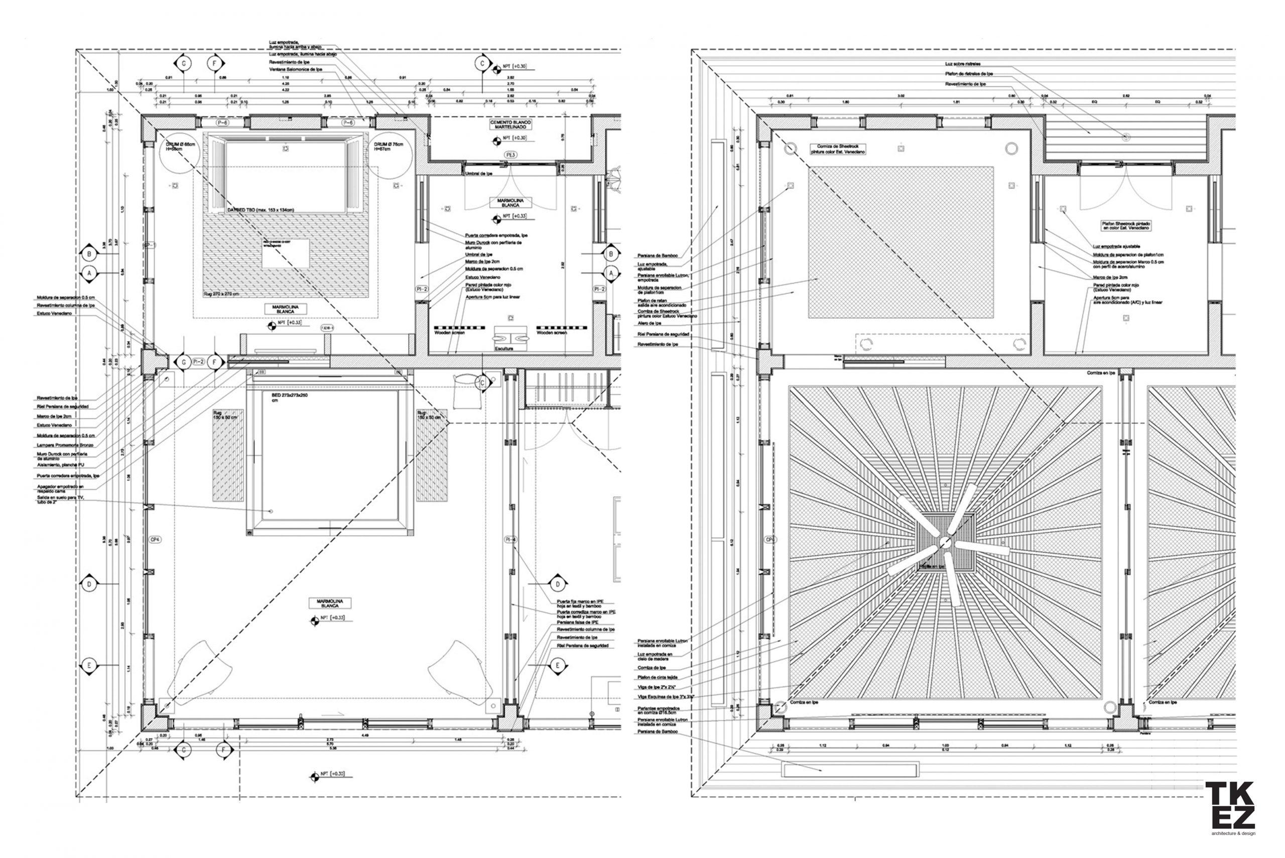 Exklusive Wohnresidenz Architekturbüro TKEZ Architekten Aufriss Plan