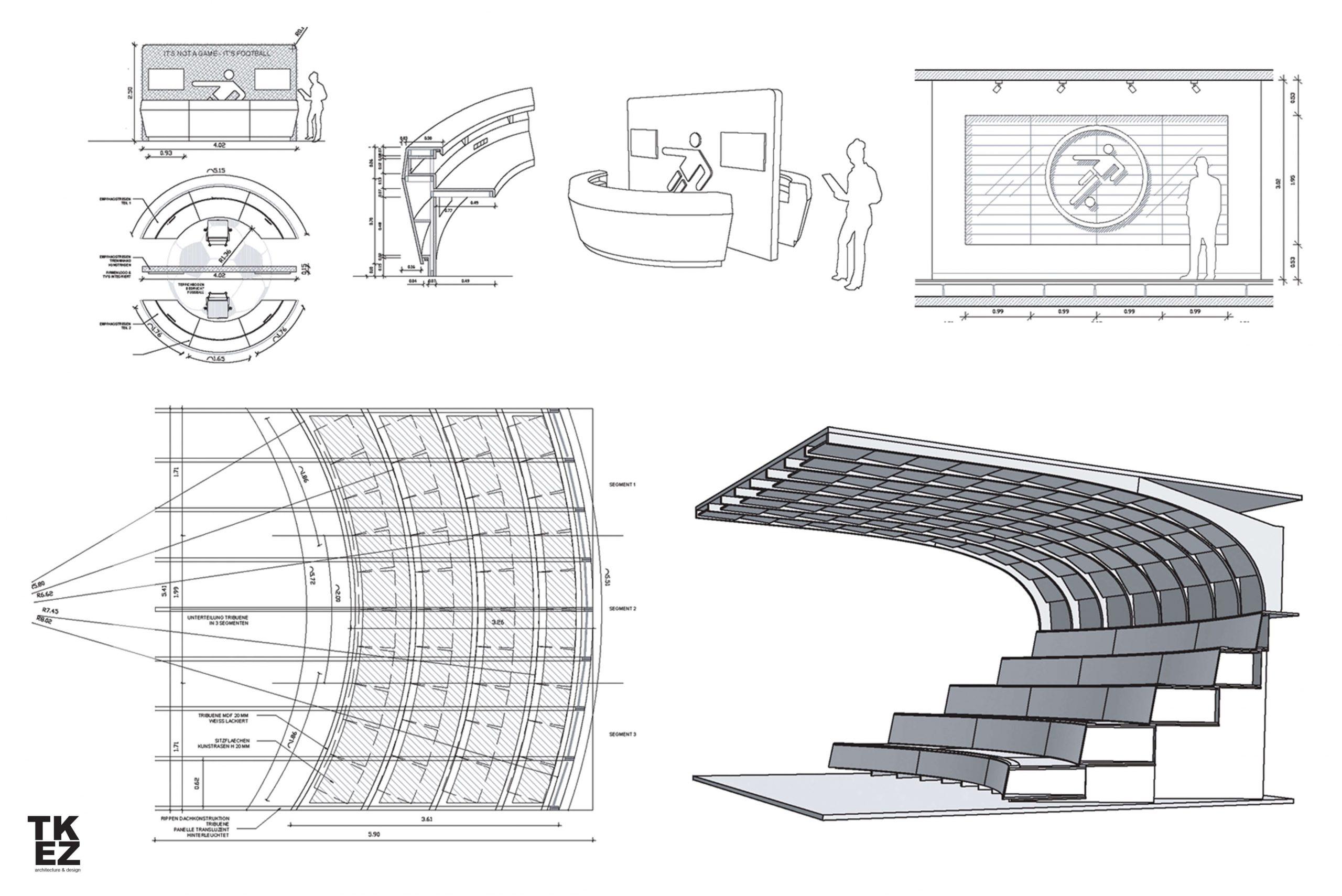 Startup Onefootball Office Design TKEZ Architekten Planung Arena