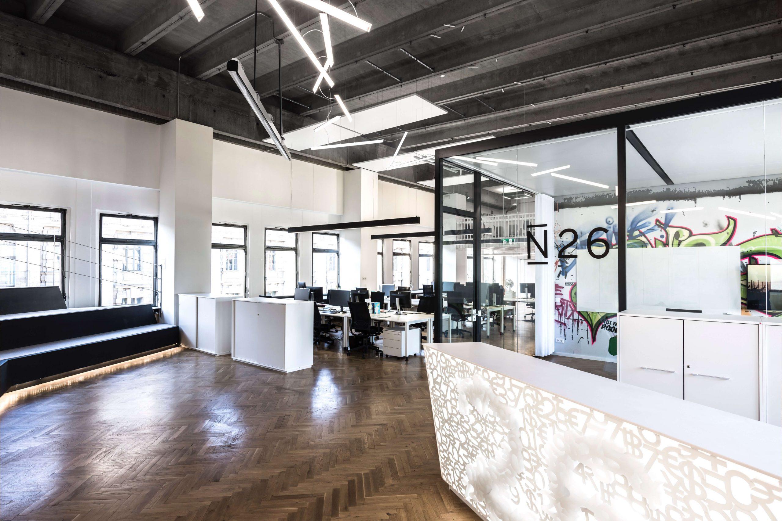 New Work Büro Startup N26 Architekturbüro TKEZ Emfpang