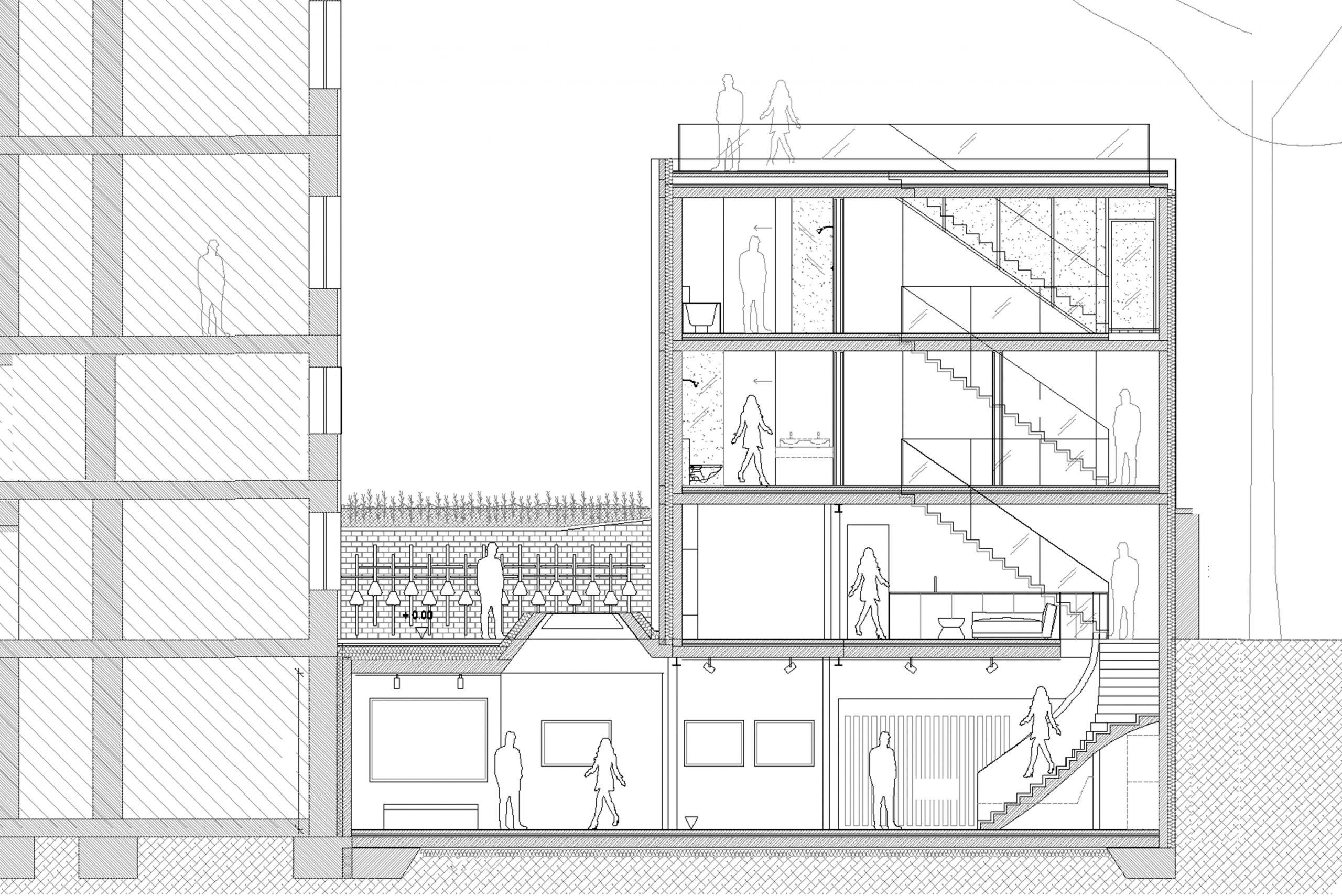 Privathaus Haus im Hof Architekturbüro TKEZ München Planung