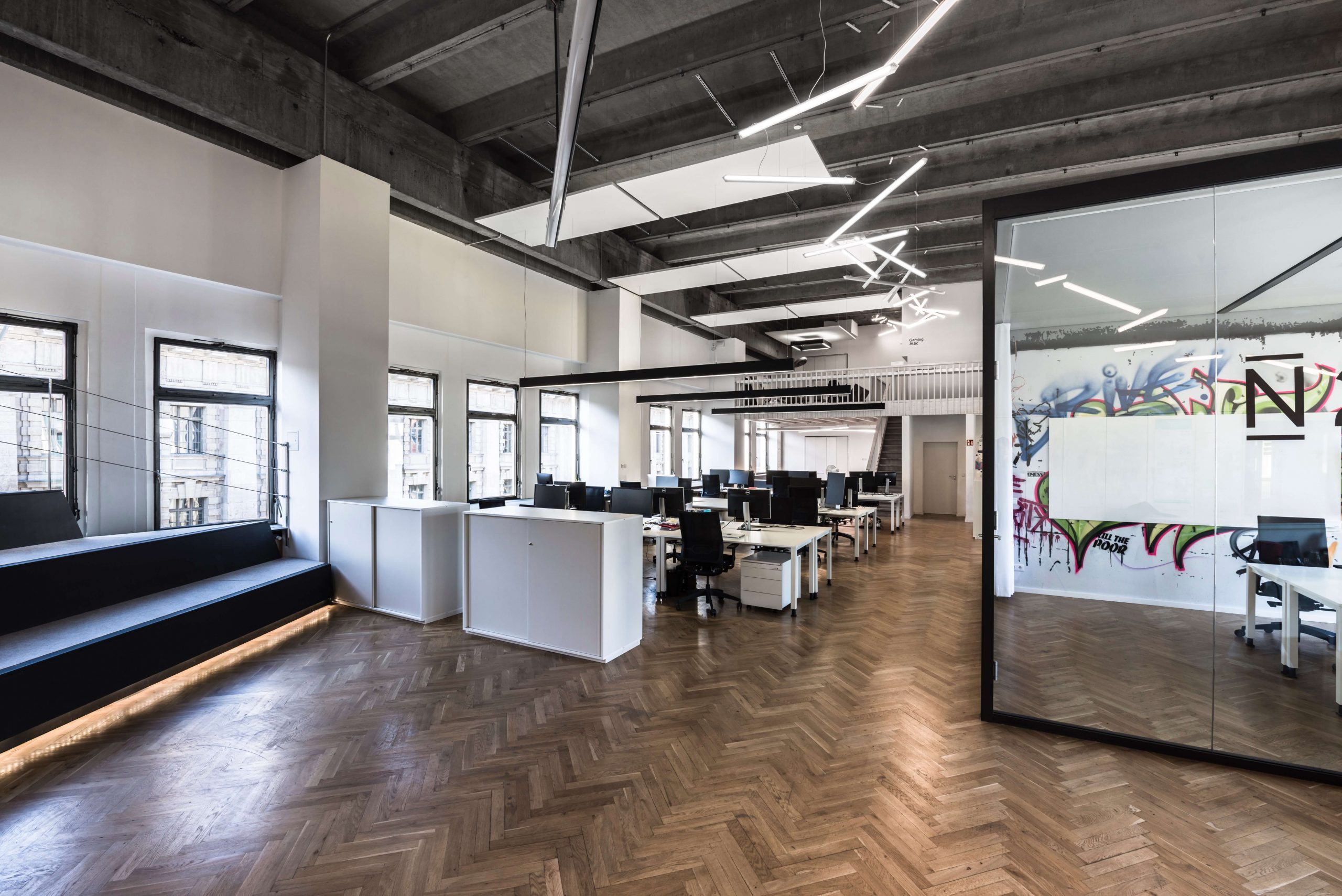 New Work Büro Startup N26 Architekturbüro TKEZ Empfang