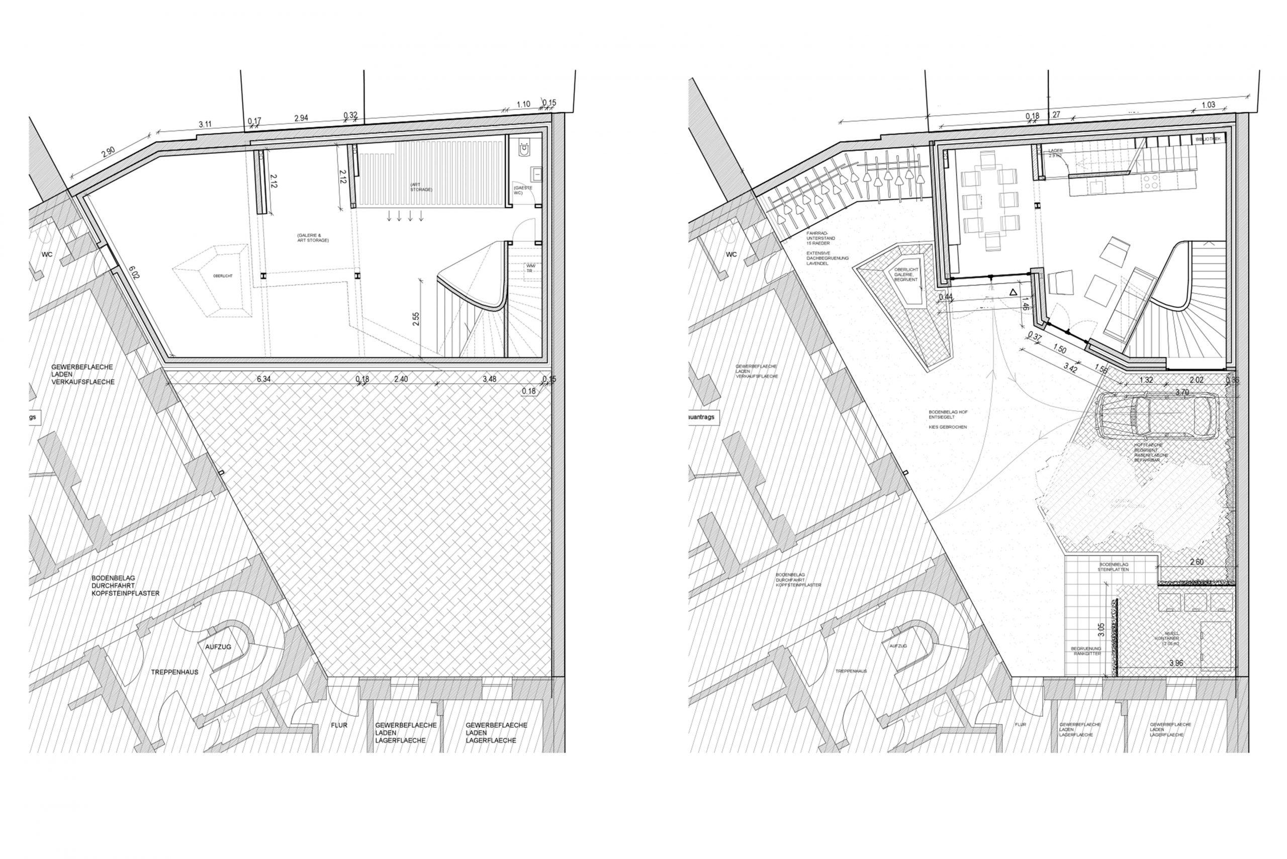 Privathaus Haus im Hof Architekturbüro TKEZ München Grundriss