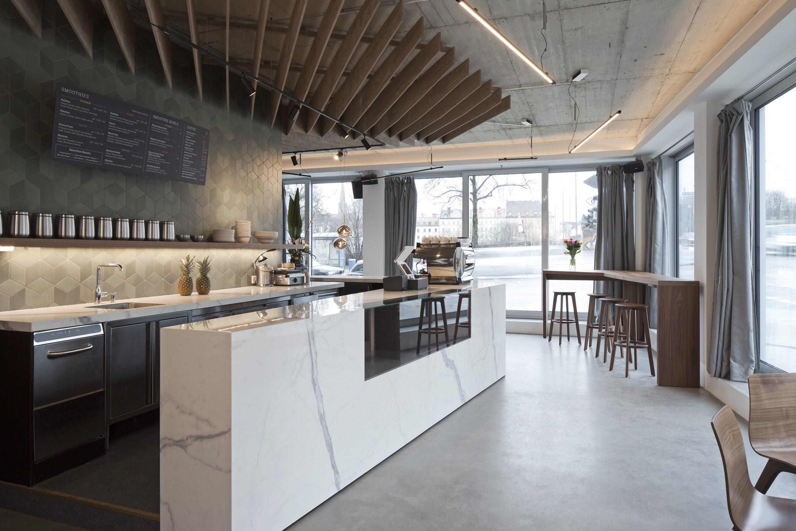 Inneneinrichtung Café Wagners München TKEZ Architekturbüro Innenansicht