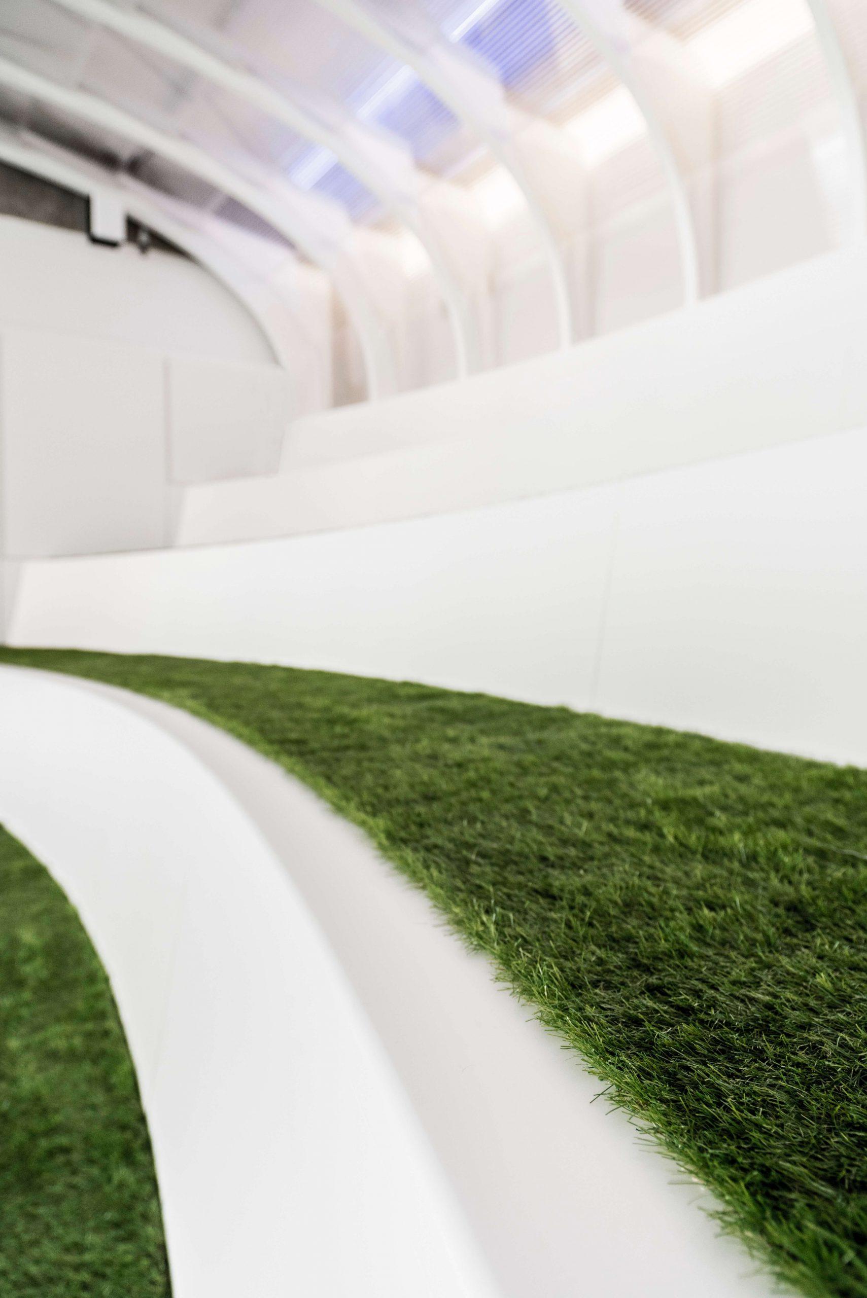 Startup Onefootball Office Design TKEZ Architekten Arena mit Kunstrasen